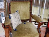 Toot Arm Chair Before Velour